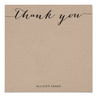 Square Thank You flat note cards