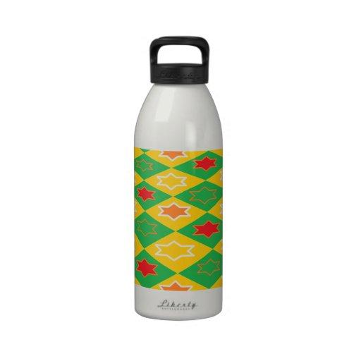 Square Theme Water Bottles
