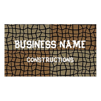 Square tile mosaic pattern business cards
