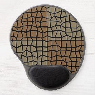 Square tile mosaic pattern gel mouse mats