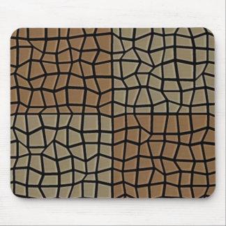 Square tile mosaic pattern mouse pad