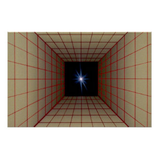 Square tunnel grid with star posters