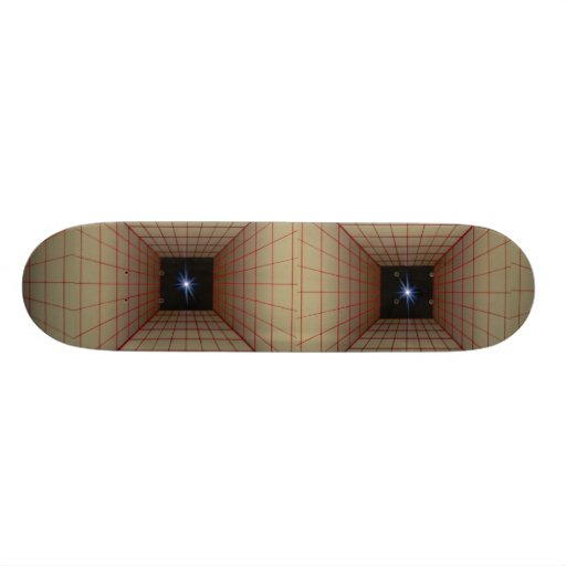 Square tunnel grid with star skate board decks