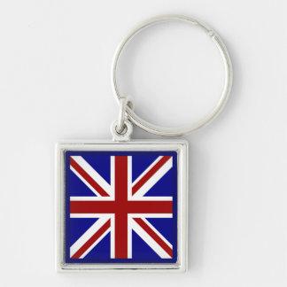 Square Union Jack Keychain