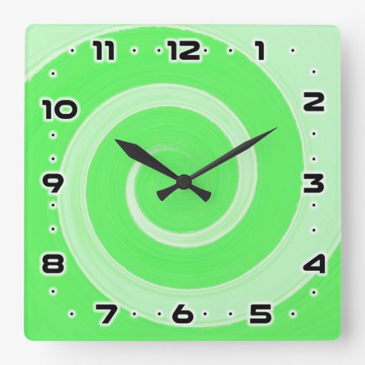 Square Wall Clock Zazzle