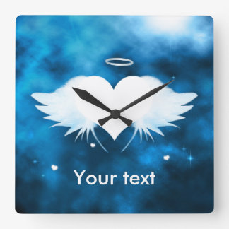 Square Wall Clock - Angel of the Heart