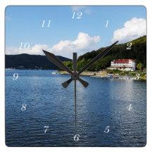 Lake Time Wall Clocks Zazzle