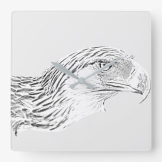 Square Wall Clock Great Philippine Eagle