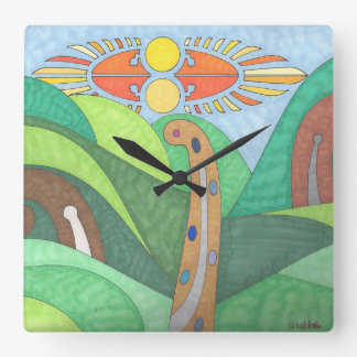 Square Wall Clock - Off The Beaten Path