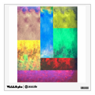 Square Wall Decall Soft Inferno Art Piece Wall Decal
