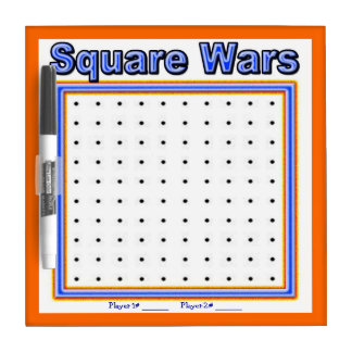 Square Wars Dot Game Dry Erase Board