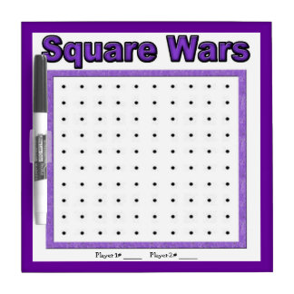 Square Wars Purple Dot Game Dry Erase Board