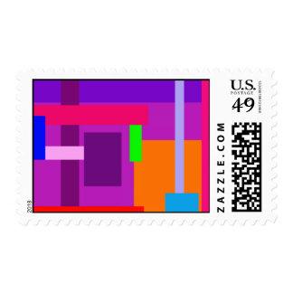 Square Waves Purple Postage