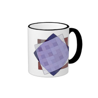 Square Weave Ringer Coffee Mug