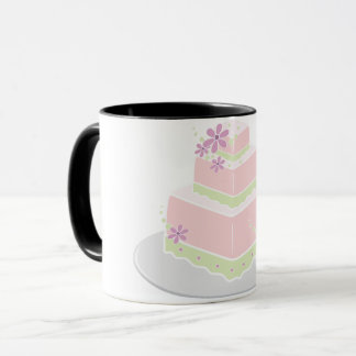 Square Wedding Cake Mug