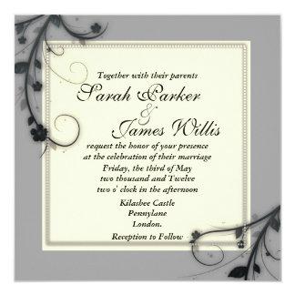 """Square wedding Invites (5.25"""" x 5.25"""")"""