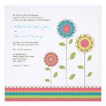 Square Wedding Rainbow Tall Flowers Invitation