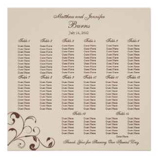 Square Wedding Reception Seating Chart