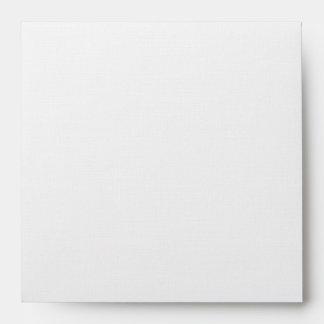 Square White Wedding Invitation Envelope