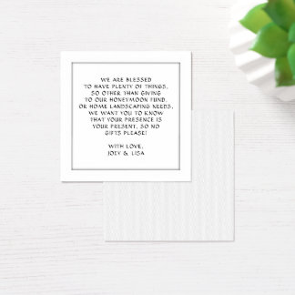 Square Wishing Well Card Enclosures Neutral Colors