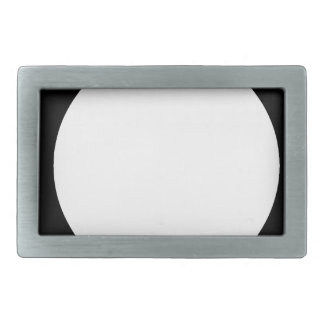 square with white circle rectangular belt buckle