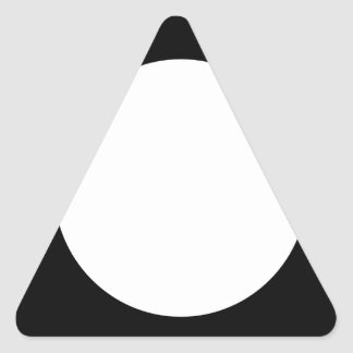 square with white circle triangle sticker