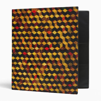 square wooden pattern 3 ring binder