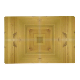 Square wooden pattern laminated place mat