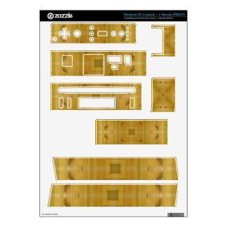 Square wooden pattern skin for nintendo wii
