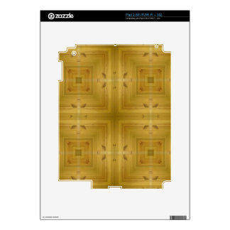 Square wooden pattern skins for iPad 2