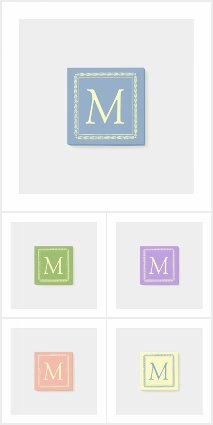 Square Wreath Monogram
