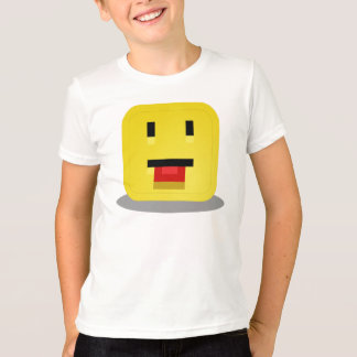 Square Yellow Smiley With Red Tongue T-Shirt