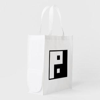 Square Yin Yang Grocery Bag