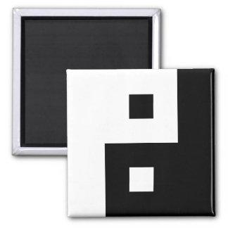 Square Yin Yang Magnet