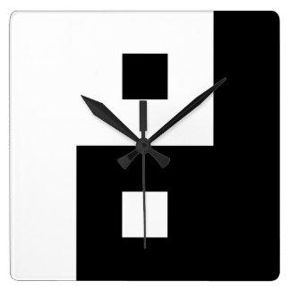 Square Yin Yang Square Wall Clock