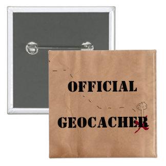SquareButton: Geocacher oficial Pin Cuadrado