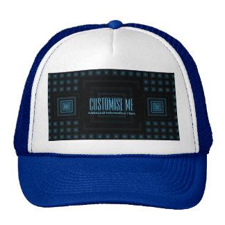 Squareception (Square Pattern) Blue Trucker Hat