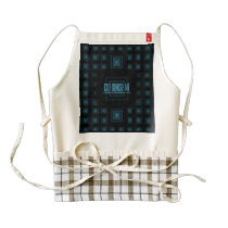 Squareception (Square Pattern) Blue Zazzle HEART Apron