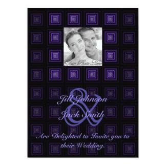 Squareception (Square Pattern) Purple Card