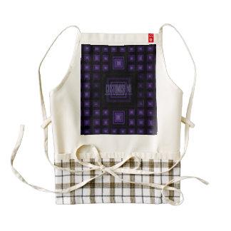 Squareception (Square Pattern) Purple Zazzle HEART Apron