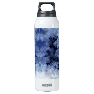 Squared Blue 16 Oz Insulated SIGG Thermos Water Bottle