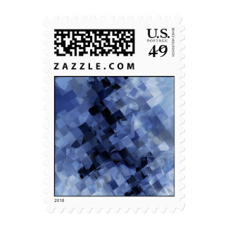 Squared Blue Stamp