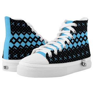 Squared Diamond Custom HighTop Men/Women. Shoes