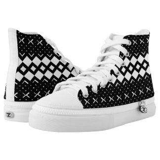 Squared Diamond Custom HighTop Men/Women. Shoes Printed Shoes