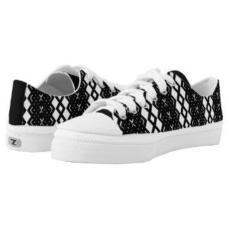 Squared Diamond Custom LowTop Men/Women. Horizonta Printed Shoes