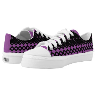 Squared Diamond Custom LowTop Men/Women. Shoes Printed Shoes