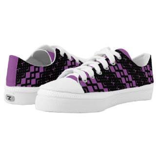 Squared Diamond Custom LowTop Men/Women. Slanted Printed Shoes