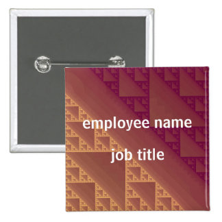 Squared Employee Name Tag Button