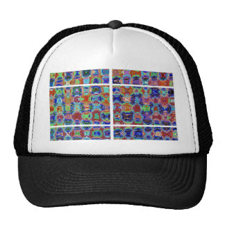 Squared Funny Graphics Template add TEXT IMG JPG Trucker Hat