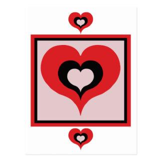 Squared heart postcard